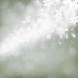 Abstracte achtergrond met sneeuwvlokken Royalty-vrije Stock Foto