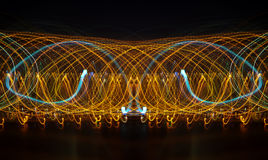 abstracte achtergrond met snelheidsmotie van lichten Royalty-vrije Stock Fotografie