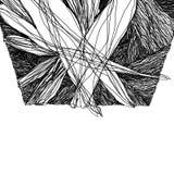 Abstracte achtergrond met snijdende geometrische vormen vector illustratie