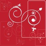 Abstracte achtergrond met spiralen Royalty-vrije Stock Afbeeldingen
