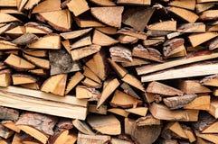 Abstracte achtergrond met stapel van hout Stock Fotografie