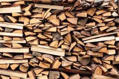 Abstracte achtergrond met stapel van hout Royalty-vrije Stock Afbeelding