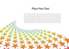 Abstracte achtergrond met sterren Royalty-vrije Stock Afbeeldingen