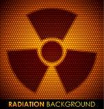 Abstracte achtergrond met stralingssymbool. Stock Foto's