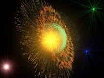 Abstracte achtergrond met supernovaexplosie Stock Fotografie