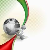 Abstracte achtergrond met toestel; Wereld ingebeeld als een mechanisme Royalty-vrije Stock Afbeeldingen