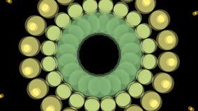 Abstracte achtergrond met uitbarstingscirkels stock video
