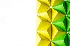 Abstracte achtergrond met van de exemplaarruimte en origami tetrageders stock afbeeldingen
