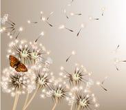 Abstracte achtergrond met vectorpaardebloemen Stock Foto