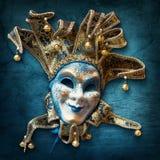 Abstracte achtergrond met Venetiaans masker Stock Fotografie
