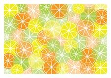 Abstracte achtergrond met verschillende soorten fruit vector illustratie