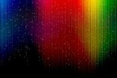 Abstracte achtergrond met verticale kleurrijke strepen, met hart s Royalty-vrije Stock Afbeeldingen