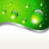 Abstracte achtergrond met waterdalingen Stock Foto's