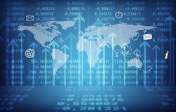 Abstracte achtergrond met wereldkaart Royalty-vrije Stock Foto
