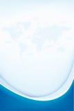 Abstracte achtergrond met wereldkaart Royalty-vrije Stock Foto's