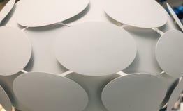 Abstracte achtergrond met witte ellips stock foto