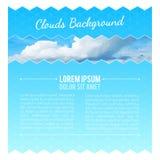 Abstracte achtergrond met wolken Het Ontwerpmalplaatje van de vliegerlay-out Stock Fotografie