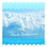 Abstracte achtergrond met wolken Het Ontwerpmalplaatje van de vliegerlay-out Royalty-vrije Stock Foto
