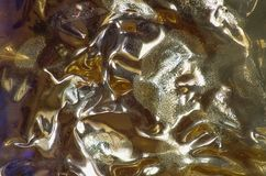 Abstracte achtergrond met zacht patroon in goud royalty-vrije stock foto's