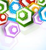 Abstracte achtergrond met zeshoeken Stock Foto