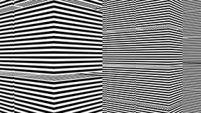 Abstracte achtergrond met zwart-witte strepen Royalty-vrije Stock Foto