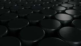 Abstracte achtergrond met zwarte cilynder Royalty-vrije Stock Afbeeldingen