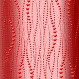 Abstracte achtergrond. Mooie rode harten. Royalty-vrije Stock Afbeeldingen