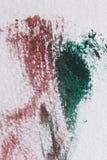 Abstracte achtergrond op een weefseloppervlakte in groene en rode tonen royalty-vrije illustratie