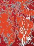 Abstracte achtergrond op rood Stock Afbeelding