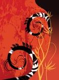Abstracte achtergrond op rood Royalty-vrije Stock Fotografie