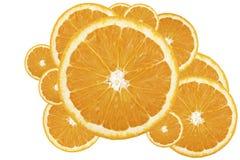 Abstracte achtergrond - Oranje mozaïek Stock Foto's