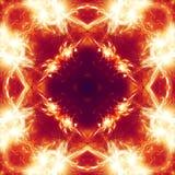 Abstracte achtergrond oranje steruitbarsting Royalty-vrije Illustratie