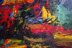 abstracte achtergrond Rode olieverven stock afbeelding