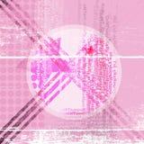Abstracte achtergrond in roze met een ster in midd Stock Fotografie