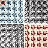 abstracte achtergrond Sier naadloos patroon Geometrische Achtergrond Arabisch patroon Retro uitstekende geplaatste ornamenten Stock Fotografie