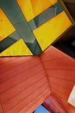 Abstracte achtergrond in sinaasappel en geel Stock Foto's