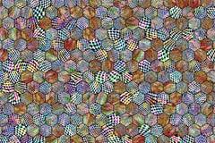 Abstracte achtergrond of textuur voor ontwerp, kleurrijke patroon hexagon strook royalty-vrije stock afbeeldingen