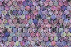 Abstracte achtergrond of textuur voor ontwerp, kleurrijke patroon hexagon strook stock afbeeldingen