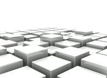 Abstracte achtergrond van 3d blokken Stock Foto