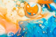 Abstracte achtergrond van acrylverven, gekleurde moderne kunst van tekening stock afbeeldingen