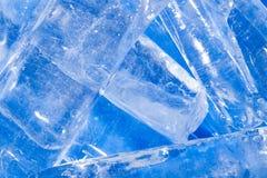 Abstracte achtergrond van blauw ijs royalty-vrije stock afbeelding