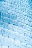 Abstracte achtergrond van blauwe glanzende blokken. Stock Fotografie