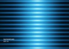 Abstracte achtergrond van blauwe gloeiende neonlijnen of lichten Vector illustratie royalty-vrije illustratie