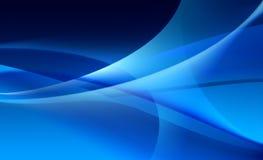 Abstracte achtergrond van blauwe sluiers Royalty-vrije Stock Foto's