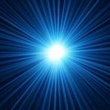 Abstracte achtergrond van blauwe steruitbarsting Royalty-vrije Stock Fotografie