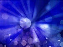 Abstracte achtergrond van blauwe steruitbarsting Stock Fotografie