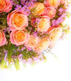 Abstracte Achtergrond van Bloemen Close-up Royalty-vrije Stock Afbeelding