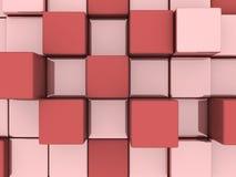 Abstracte achtergrond van 3d blokken Royalty-vrije Stock Afbeelding