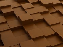 Abstracte achtergrond van 3d blokken Stock Afbeeldingen
