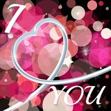 Abstracte achtergrond van de dag van de Valentijnskaart \ 's Metaal 3d hart Royalty-vrije Stock Afbeelding